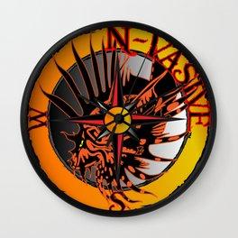N-Vasive Lionfish logo Wall Clock