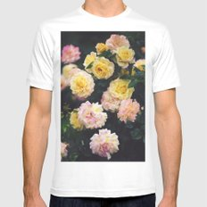 Rose Garden II MEDIUM Mens Fitted Tee White