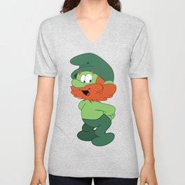Leprechaun Smurf Unisex V-Neck