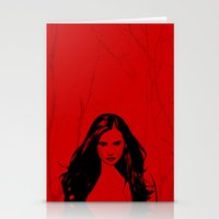 the vampire diaries Stationery Cards featuring Vampire Diaries by Tamsin Lucie