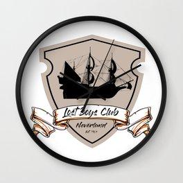 Lost Boys Club Wall Clock