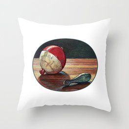 Bobber and Sinker by KPC Studios Throw Pillow