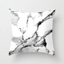 Silverstone Black and White Soft Marble Design Pattern Throw Pillow