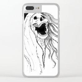 Screeching Skeleton banshee Clear iPhone Case