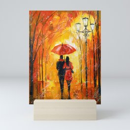 Romance in the Park Mini Art Print