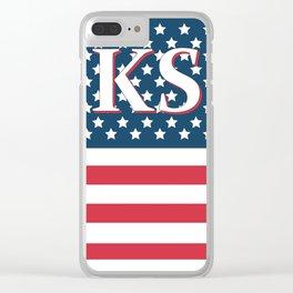 Kansa American Flag Clear iPhone Case
