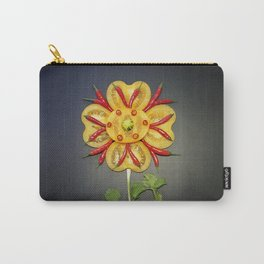 Chili Flower Carry-All Pouch