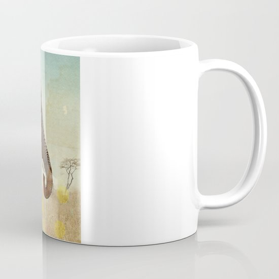 along for the ride _ an elephant and his feathered friends Mug