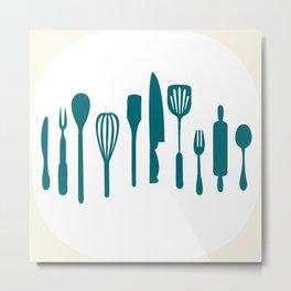 Kitchen utensils Metal Print