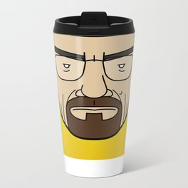 Faces of Breaking Bad: Walter White Metal Travel Mug