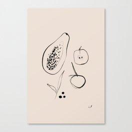 FRUIT SKETCH Canvas Print