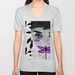 DRAGONFLY WOMAN Unisex V-Neck