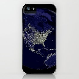 Earth Globe Lights iPhone Case