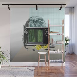 Still life with TV Wall Mural