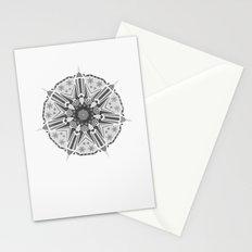 XMAS Mandala - grey Stationery Cards