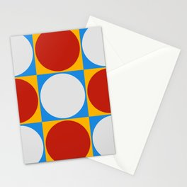 Dots on Checkerboard Stationery Cards