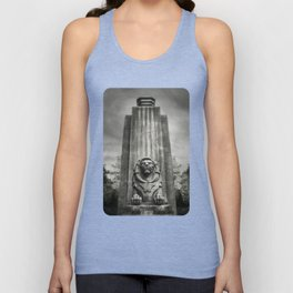 Vancouver Raincity Series - Lion at the Gate - Black and White Unisex Tank Top