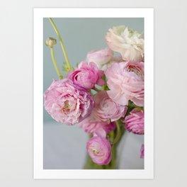 Pastel Ranunculus Art Print