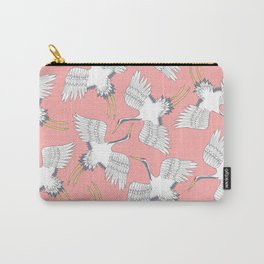 Pink Cranes Carry-All Pouch