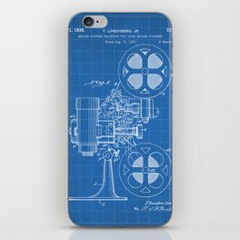 Film Projector Patent - Cinema Art - Blueprint iPhone Skin