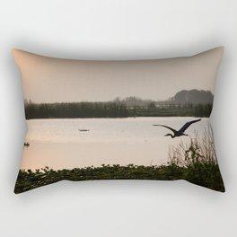 PEACH SKY AT BLUE CYPRESS Rectangular Pillow