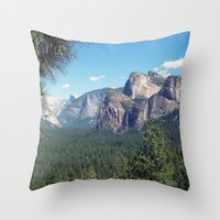 yosemite Throw Pillows featuring YOSEMITE  by Melissa Whitman