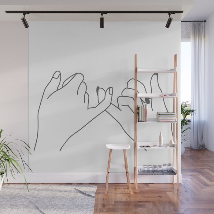 Pinky Promise 3 Wall Mural
