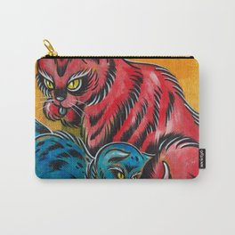 Blue and Red Cats Carry-All Pouch
