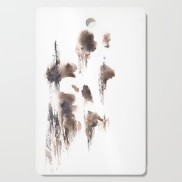 The Shadow Moon - 151124  Abstract Watercolour Cutting Board