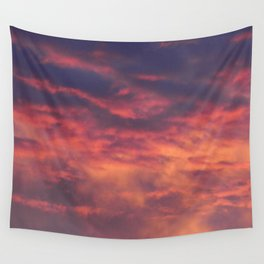 Sunset - Volcano Sky Wall Tapestry