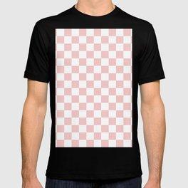 Gingham Pink Blush Rose Quartz Checked Pattern T-shirt