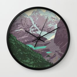 Yoho National Park Poster Wall Clock