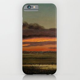 Sunset Over The Marshes 1904 By Martin Johnson Heade | Reproduction iPhone Case