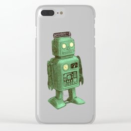 Robot vs Alien Clear iPhone Case