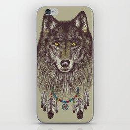 Wind Catcher Wolf iPhone Skin
