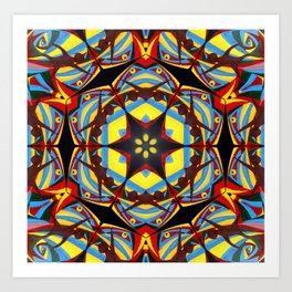 Magical Star Colorful Mosaic Art Print