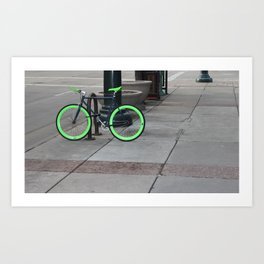 Bicycle Pose Art Print