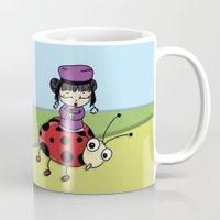 ladybug Mugs featuring Ladybug by flydesign