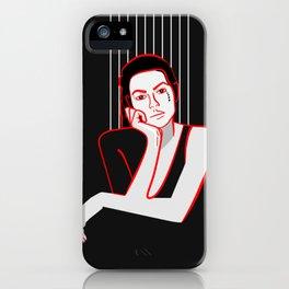Minimal Girl iPhone Case