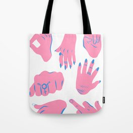 trans hands Tote Bag