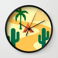 camping Wall Clocks featuring Camping by Mr and Mrs Quirynen