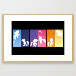 Rainbow Ponies Framed Art Print