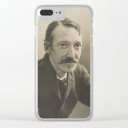 Vintage Robert Louis Stevenson Photo Portrait Clear iPhone Case