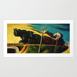 Classical Masterpiece 'Going West' by Thomas Hart Benton, Circa 1926 Art Print