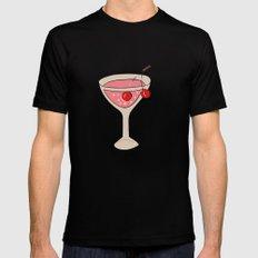 Alcohol_03 Black MEDIUM Mens Fitted Tee