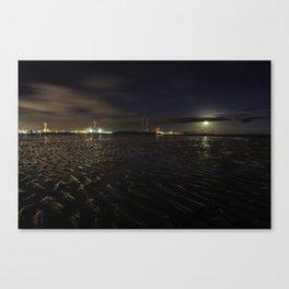 Sandymount Strand at Night Canvas Print