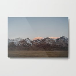 Snow on Mountains to Tibet | Himalayas in China | Sunrise and Pink Clouds | Travel Photography Metal Print