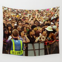 concert Wall Tapestries featuring Concert Crowd by ThatRaulSanchez
