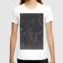 Gray Black Marble #1 #decor #art #society6 T-shirt