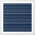Mudcloth Style 1 in Navy by fischerfinearts